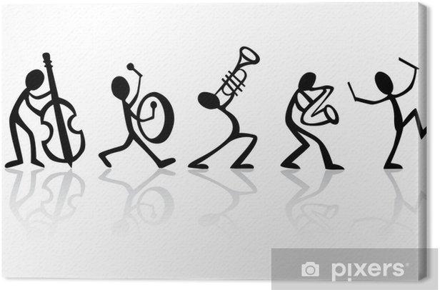 Tableau sur toile Band musiciens jouant de la musique, idéal vecteur de t-shirts - Jazz