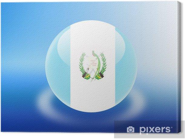 Tableau sur toile Bandeira Guatemala - Vacances