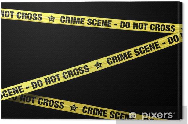 Tableau sur toile Banderole Crime Scene 2 - Arrière plans