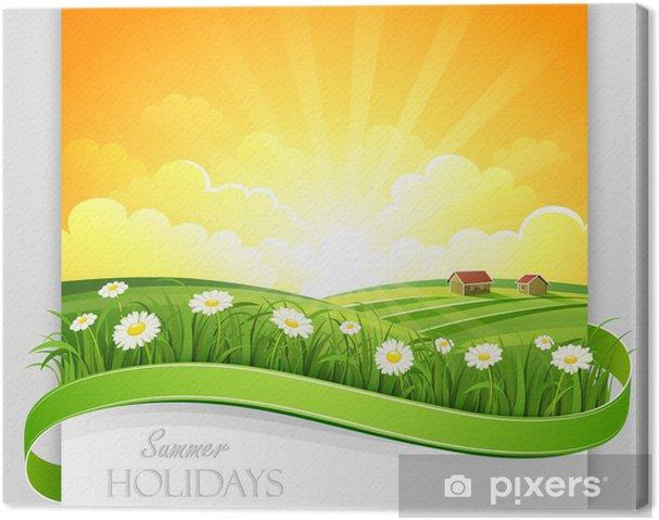 Tableau sur toile Bannière d'été. Vecteur - Saisons