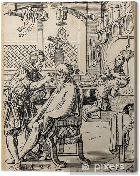 Tableau sur toile Barber Shop - Maisons et jardins