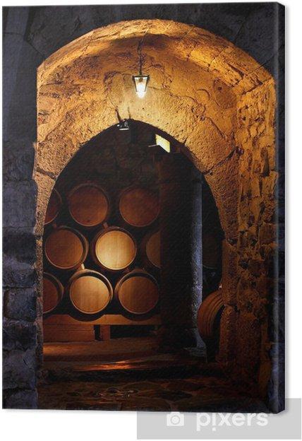 Tableau sur toile Baril de vin dans winerry. - Styles