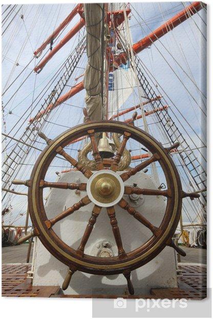 Tableau sur toile Barre, capitaine, ship, marin, voilier, mat - Bateaux