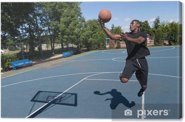 8400ffae92473 Tableau sur toile Basket-ball empilage • Pixers® - Nous vivons pour ...
