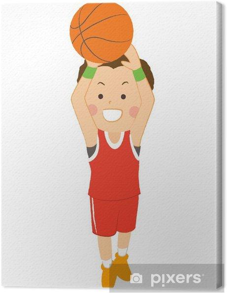86a520336a41c Tableau sur toile Basket-ball lancer franc hommes • Pixers® - Nous ...