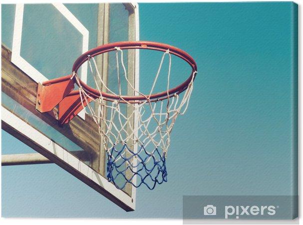 fb12bd907ca9a Tableau sur toile Basketball Hoop Gros plan • Pixers® - Nous vivons ...