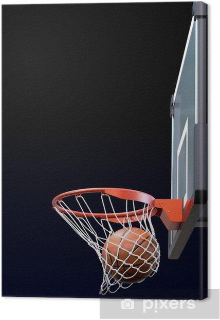 60663ad8ebce9 Tableau sur toile Basketball Shot • Pixers® - Nous vivons pour changer