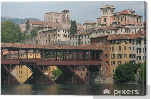 Tableau sur toile Bassano del Grappa. Pont tireurs alpins. - Europe