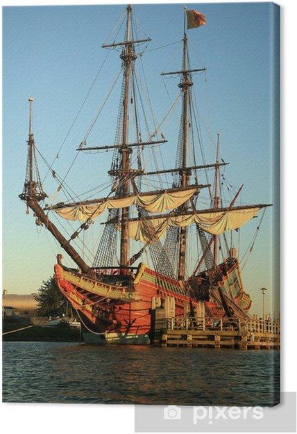 Tableau sur toile Batavia navire vieux aux Pays-Bas. - Véhicules