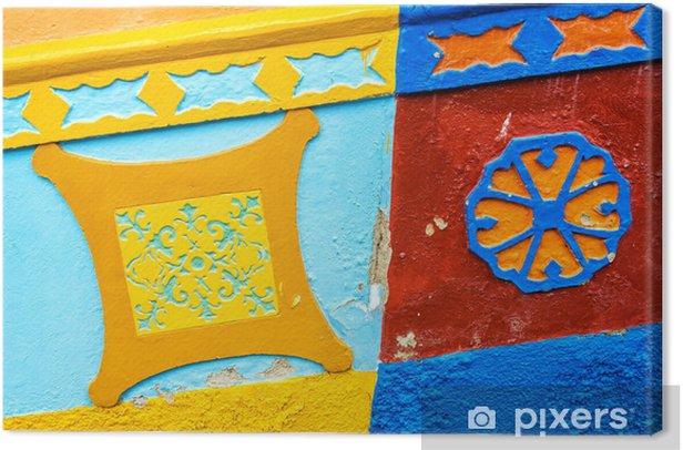 Tableau sur toile Bâtiment coloré Détail - Amérique