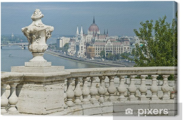 Tableau sur toile Bâtiment du Parlement à Budapest, Hongrie - Europe