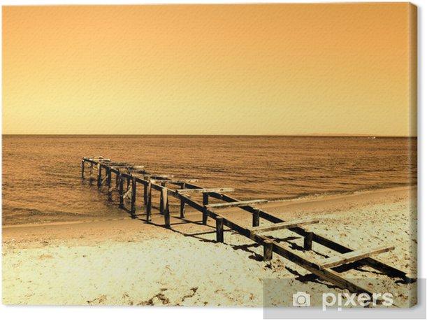 Tableau sur toile Beach pier - Îles