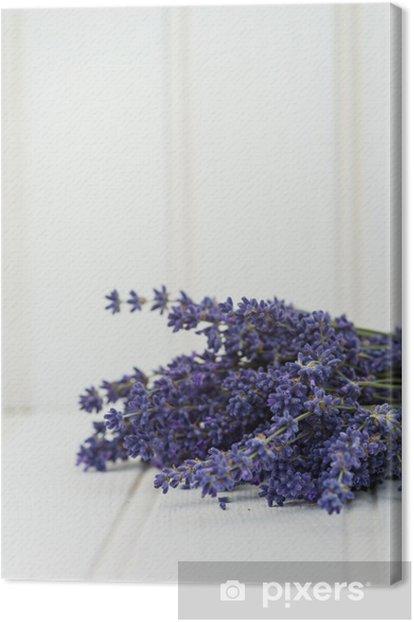Tableau sur toile Beau bouquet de lavande parfumée dans la maison de style rustique - Plantes