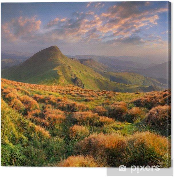 Tableau sur toile Beau paysage d'été dans les montagnes. Sunrise - Saisons