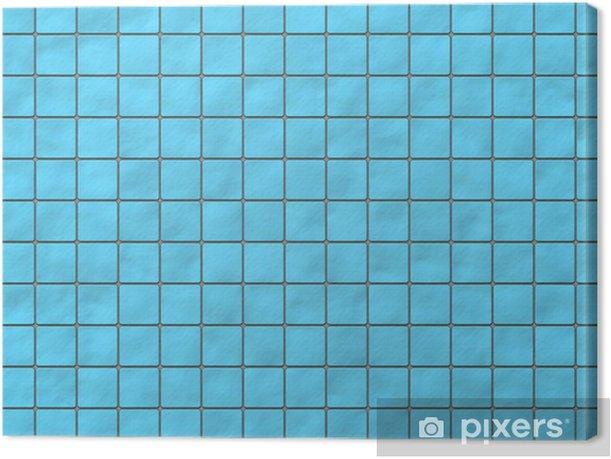 Tableau sur toile Beaucoup carré bleu carreaux de céramique avec des coins arrondis. texte de motif - Arrière plans