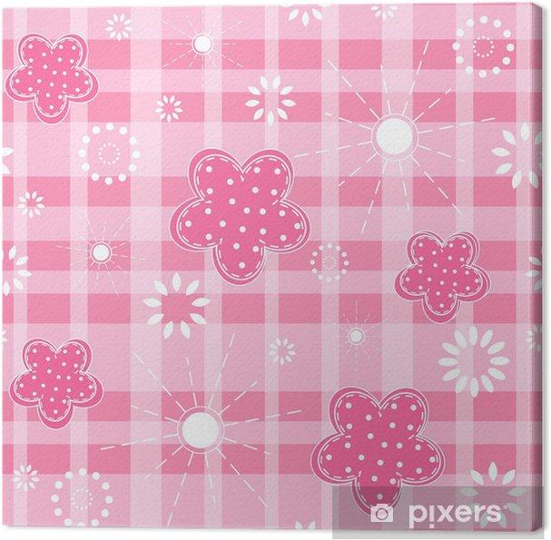 Tableau sur toile Bébé rose transparente. - Célébrations