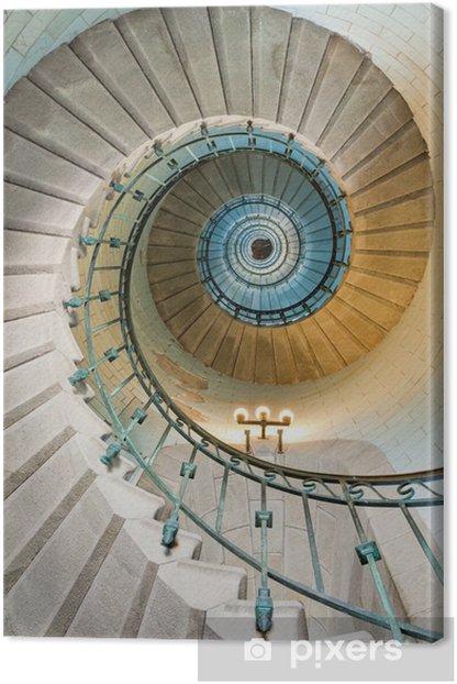 Tableau sur toile Bel escalier en phare -