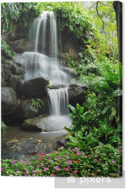 Tableau sur toile Belle cascade dans le jardin - Cascades