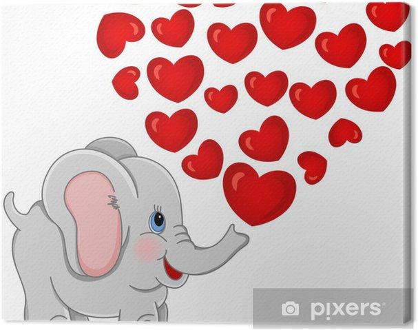 Tableau sur toile Belle éléphant - Sticker mural