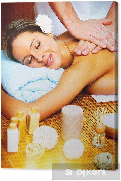 Tableau sur toile Belle femme ayant massage. - Santé