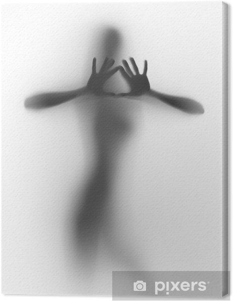 Tableau Sur Toile Belle Femme Nue Danse Derriere Un Textile Blanc
