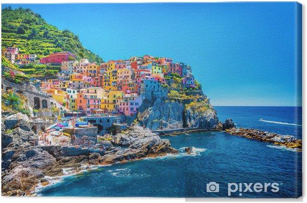 Tableau sur toile Belle paysage urbain coloré - Thèmes