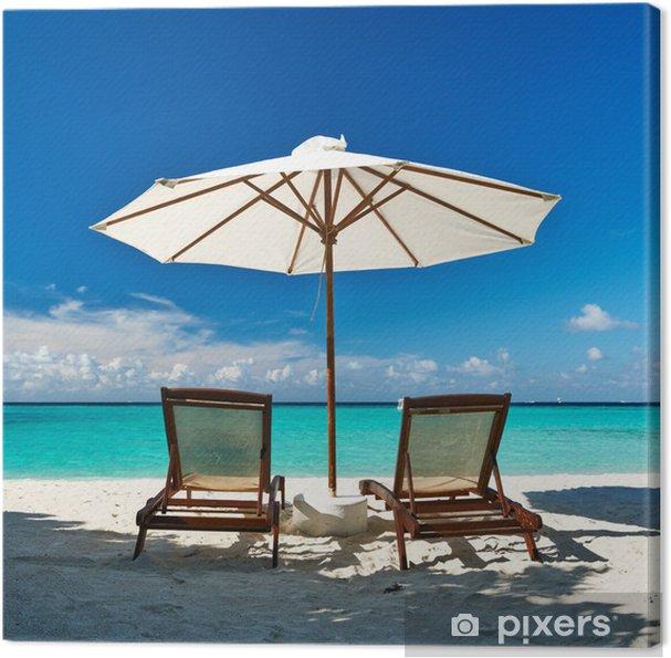 Tableau sur toile Belle plage à Maldives - Vacances