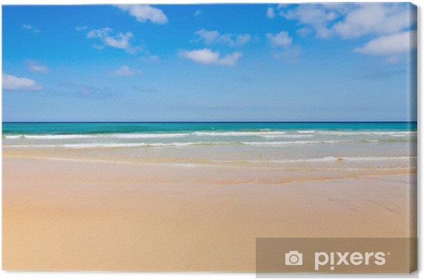 Tableau sur toile Belle plage de l'océan - Saisons