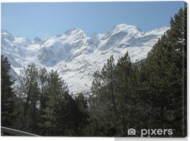 Tableau sur toile Bernina - Sports d'hiver
