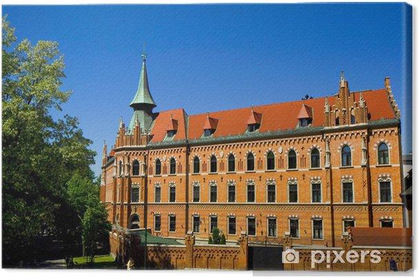 Tableau sur toile Bibliothek - Päpstliche Universität Johannes Paul II - Krakau - Europe