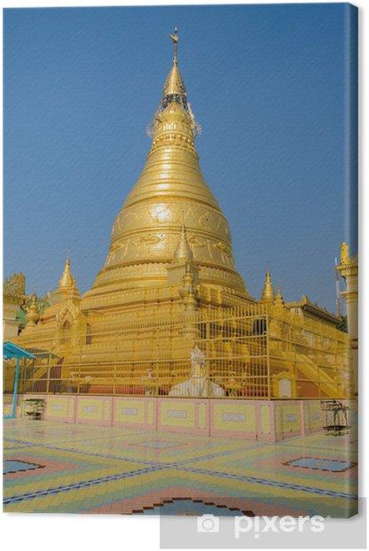 Tableau sur toile Bientôt, la pagode d'or de Pon Nya Shin Oui dans la colline de Sagaing, Myanmar - Asie