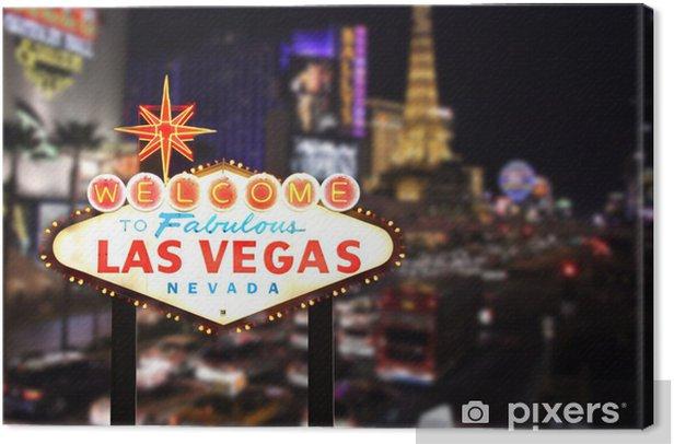 Tableau sur toile Bienvenue à Las Vegas au Nevada - Las Vegas