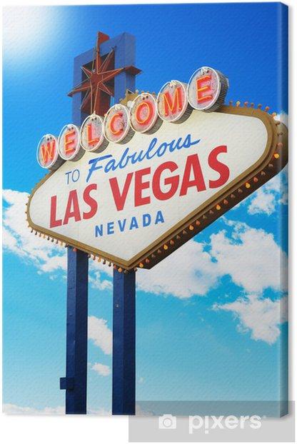 Tableau sur toile Bienvenue à Las Vegas fabuleux Nevada Inscrivez- - Las Vegas