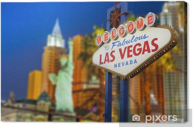 Tableau sur toile Bienvenue à Las Vegas néon - Las Vegas