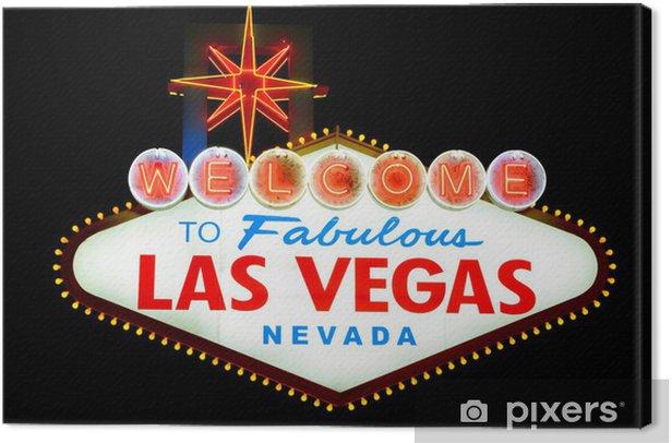 Tableau sur toile Bienvenue à Las Vegas signe isolé - Las Vegas