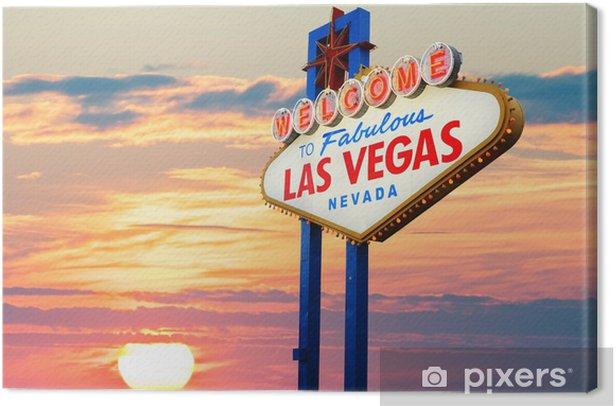 Tableau sur toile Bienvenue à Las Vegas signe - Las Vegas