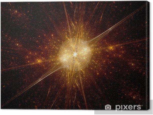 Tableau sur toile Big bang dans l'espace lointain - Espace