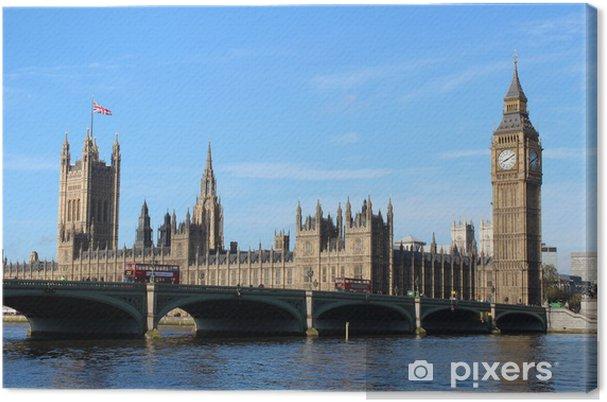 Tableau sur toile Big Ben et les Chambres du Parlement - Villes européennes