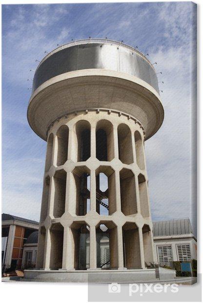 Tableau sur toile Big château d'eau - Industrie lourde