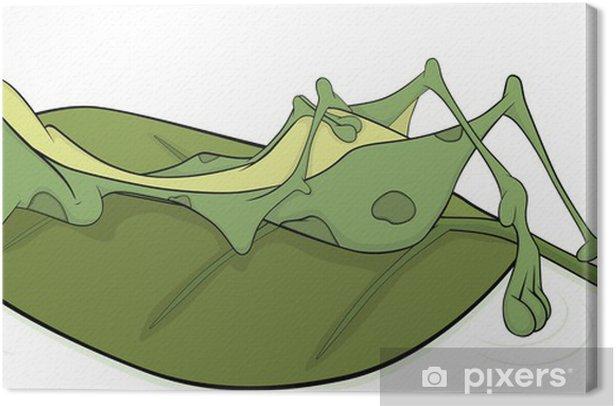 Tableau sur toile Big Green grenouille. Cartoon - Autres Autres