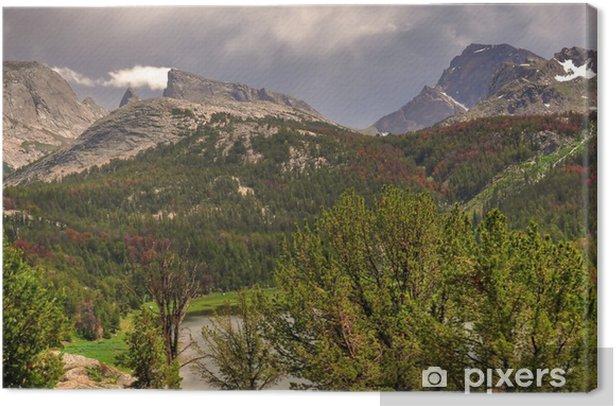 Tableau sur toile Big Sandy Lake bassin-Vent Range Wyoming - Nature et régions sauvages