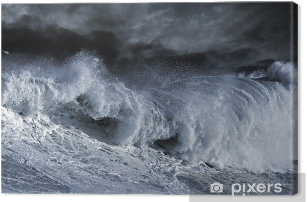 Tableau sur toile Big wave Atantic - Thèmes
