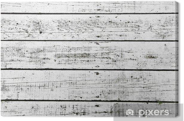 Tableau sur toile Blanc lavé planches - Textures