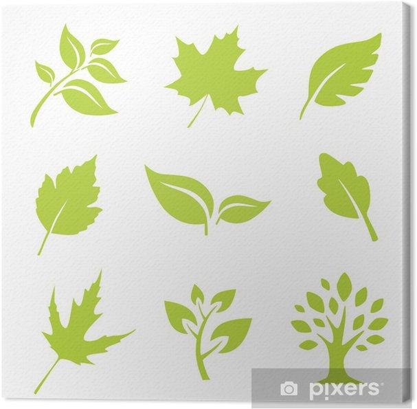 Tableau sur toile Blätter - Maisons et jardins