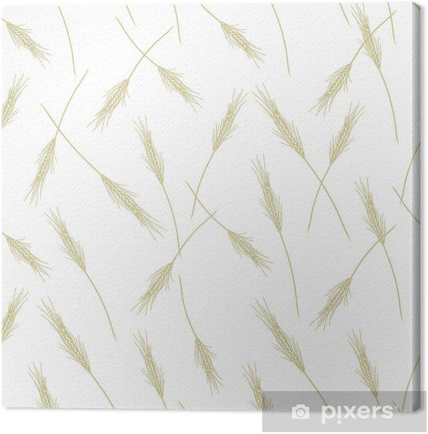 Tableau sur toile Blé modèle transparent pour votre conception - Saisons