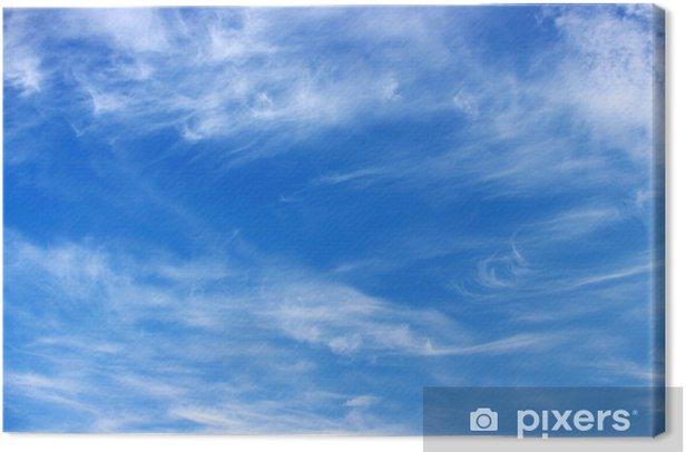 Tableau sur toile Bleu ciel - Ciel