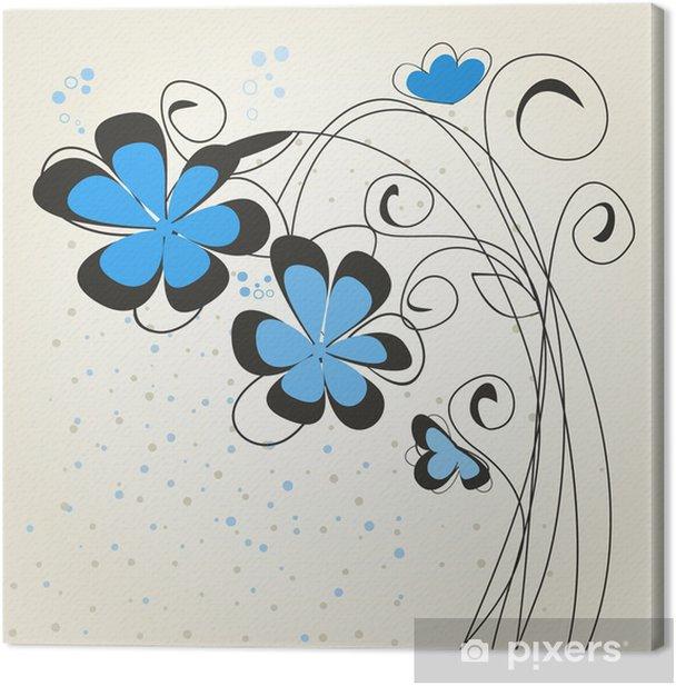 Tableau sur toile Bleu flower2 - Fleurs