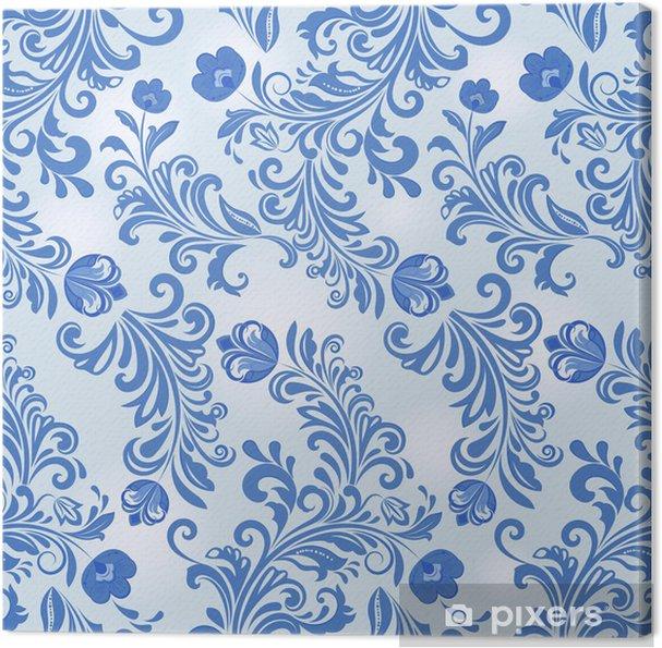 Tableau Sur Toile Bleu Motif De Papier Peint De Fleur D Hiver Sans