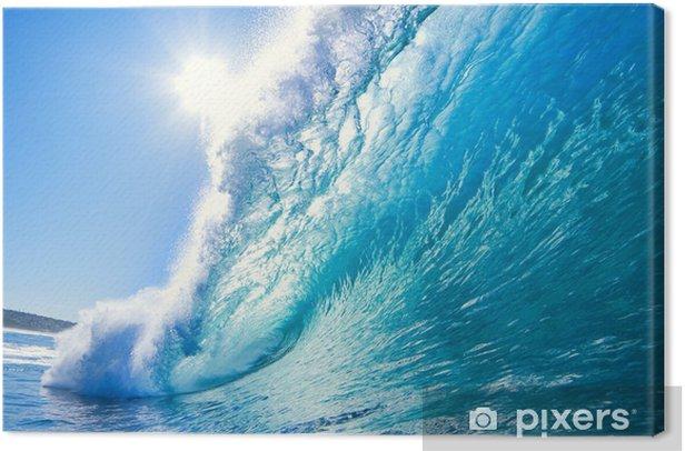 Tableau sur toile Bleu Ocean Wave - Mer et océan
