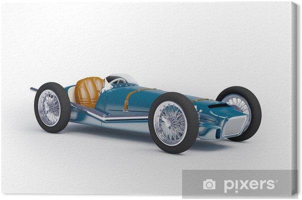 Tableau sur toile Bleu voiture de course vintage